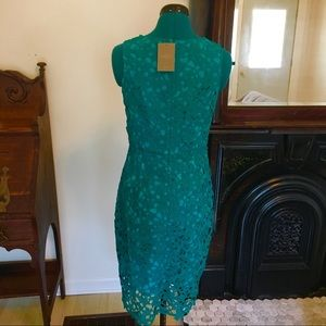 Anthropologie Dresses - Anthropologie Aqua/Deep Green Lace Dress